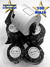 DK-1202 Brother™ QL Label 100 Rolls Includes 2 Reusable Cartridges White Postage