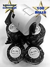 DK-1202 BrotherCompatible Label 100 Rolls Includes 2 Reusable Cartridges