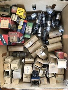 Lot Of Vacuum Tubes Valves Original Military Boxes Tested