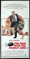 THE MAN WITH WITH THE DEADLY LENS Original Daybill Movie poster Sean Connery