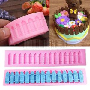 3D Fence Silicone Fondant Mold Cake Decorating Chocolate Sugarcraft Baking Mould