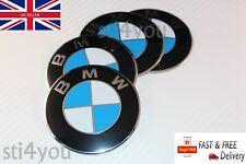4 x 70mm BMW Wheel Stickers Badges Center Caps E30 E36 E46 1 2 3 4 5 6 7 8 X3 X5