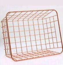 Set 5 COPPER Rose Gold Metal Storage Wire Basket Multi Purpose Kitchen bathroom