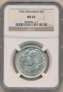 1936 Arkansas Commemorative Half Dollar. NGC MS63