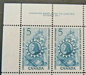 CANADA 1966 SG571 5c. 300TH ANNIVERSARY OF LA SALLE'S ARRIVAL IN CANADA  -  MNH