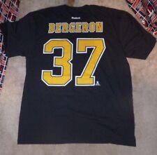 NEW NHL Patrice Bergeron Boston Bruins Jersey Style T Shirt Men 2XL XXL NWT