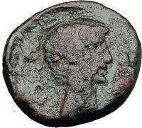 AUGUSTUS DIVUS JULIUS Caesar Domitian Restitution Thessalonica Roman Coin i58675