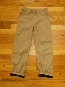 Tommy Bahama Kids Unisex BEIGE COTTON Pants WITH LINING Size 8 NWOT'S