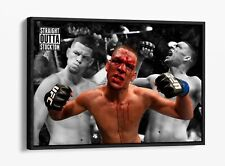 NATE DIAZ STRAIGHT OUTTA STOCKTON MMA -FLOAT EFFECT CANVAS WALL ART PIC PRINT-