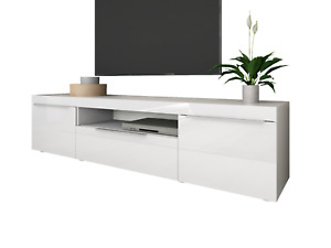 "Lowboard ""Durban"" 166cm TV Lowboard Board Schrank Möbel Regal Sideboard Weiß HG"