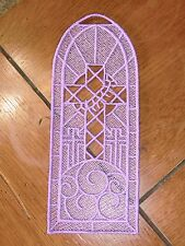 Embroidered Bookmark - Cross W/Thorns - Lavender