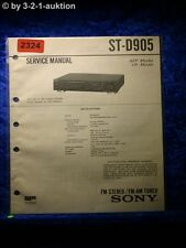 Sony Service Manual ST D905 Tuner (#2324)