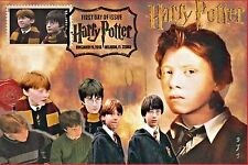 """Ron Weasley"" Potter Stamps FDC on 4x6 Postcards Easily Framed Orlando 11/19"