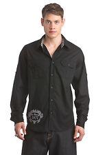 Ed Hardy Skull/Wing caballero camisa de talla: s (negro/Black) nuevo con embalaje original (pvp: 199 €)
