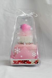 New Love Best Wishes Pink White Small Cute Hand Face Towels Set Washcloth