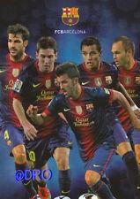 FC BARCELONA + Die Stars 2012/2013 + FCB + Postkarte Sammler + NEU + Lizenz +