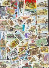 200  verschiedene Briefmarken  prähistorische Tiere / Dinosaurier , Saurier