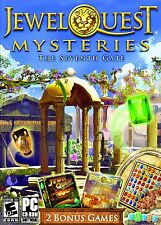 NEW SEALED - Jewel Quest Mysteries: The Seventh Gate PC Game CD W/ 2 BONUS GAMES