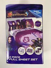 New Disney The Descendants 3, 4-Piece Full Size Sheet Set