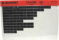 Suzuki LT-A400 Eiger 2002 Parts Catalog Microfiche s512