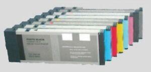 8 x Tinte Patrone für Epson Stylus Pro 4880 4800 - je 220ml PIGMENT INK - NEU