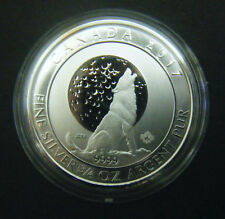 2017 Canada $2 Howling Moon Wolves Wolf Series 3/4oz Silver Bullion Coin 0.75