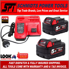 MILWAUKEE M12-18FC M18 & M12 RAPID CHARGER & M18B5 5.0Ah 18V RED LITHIUM BATTERY