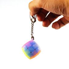 Mini Lock Keychain Rubik's Cube 3x3x3 Magic Speed Cube 30mm Transparent Puzzle