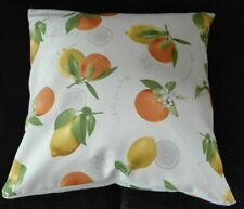 Kissenbezug, Kissenhülle 40x40 cm, Zitronen/Orangen, Dekokissen, Handarbeit, neu