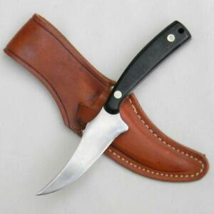 SCHRADE USA 152OT OLD TIMER Hunter-Skinner Guns & Ammo issue, orig leather heath