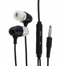 Black Headphones Earphones Earbuds with Mic Microphone for Cell Phones