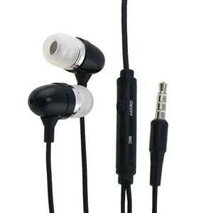 Black Headphones Earphones Earbuds with Mic Microphone for Cell Phones