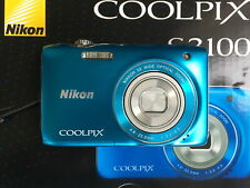 Nikon COOLPIX S3100 14,0 MP Digitalkamera - Blau