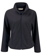 Womens Ladies Fleece Jacket Slim Fit Outdoor Walking Coat Anti Pill Petite Short Black UK 24