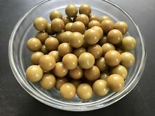 36 Olive-Colored 11mm Bakelite Loose Beads Without Holes