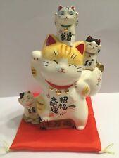 Maneki Neko Ceramic Lucky Cat kawaii Happy Cat 10 million boxes Piggy bank JAPAN