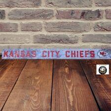 Adventure Furniture Kansas City Cheifs  NFL Skinny Plaque Sign Football Man Cave