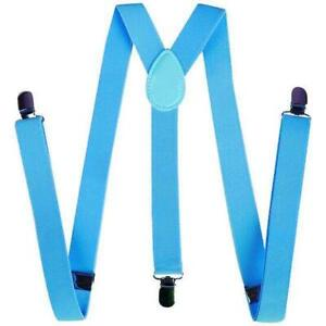 Mens Womens Clip-On Suspenders Elastic Y-Shape Adjustable Braces