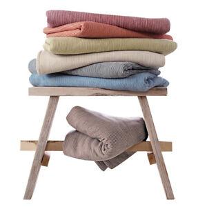 Ibena Decke Turin gestreift 140 x 200 cm Bio-Baumwolle