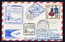 81540) LH FF Frankfurt - Shanghai China 30.3.94, card Taufe FINKENWERDER R!