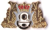 royal navy's diving branch ENAMEL lapel badge RN UK & GB, Military