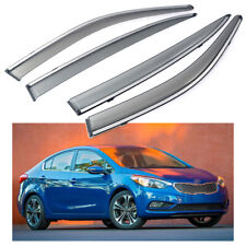 Car Window Visor Vent Shade Deflector Sun/Rain for Kia Forte Sedan 2014-2018