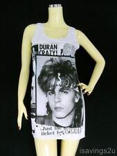 DURAN DURAN Tank Top, John Taylor NEW WAVE White Singlet, T-shirt Mini Dress NEW