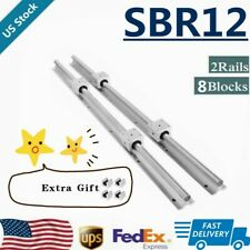 Sbr12 Linear Rail Guide 300mm 1500mm Slide Shaft Rod8x Sbr12uu Bearing Block