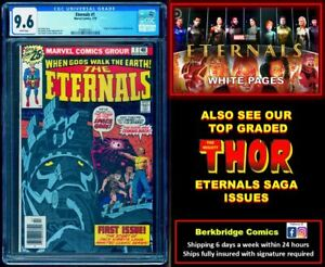 💥 ETERNALS #1 CGC 9.6 WHITE PAGES 💥 $1 SHIPPING w any THOR ETERNALS SAGA 9.8