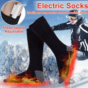 New Upgrade Electric Heated Socks Feet Warmer USB Rechargable Battery Warm Sock