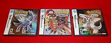 Pokemon NINTENDO DS Diamond, Pearl & Platinum BOXES & BOOKETS ONLY - NO GAMES -