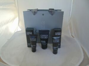 Clinique For Men Essential Skin KIt, Charcoal Face Wash , 2 x moisturizers- New
