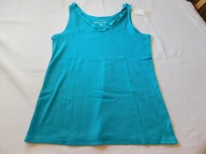 Cacique Sleepwear Women Ladies Night Shirt Sleep Tank Top 14/16 Aqua 821000 NWT
