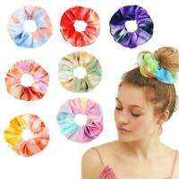 Women Elastic Hair Rope Tie Scrunchie Ponytail Holder color 12 Accessories H0F2